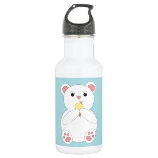 Polar Bear Eating Ice Cream Stainless Steel Water Bottle