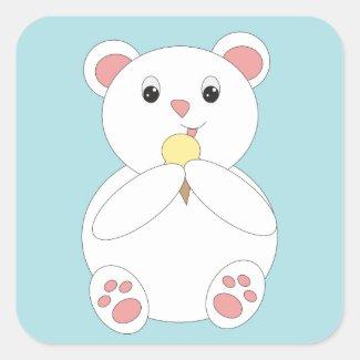 Polar Bear Eating Ice Cream