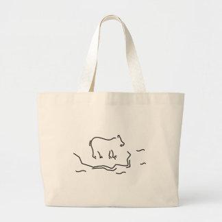 polar bear eisscholle antartkis polar bear large tote bag