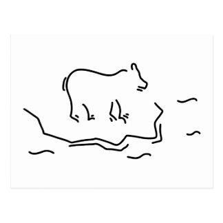 polar bear eisscholle antartkis polar bear postcard