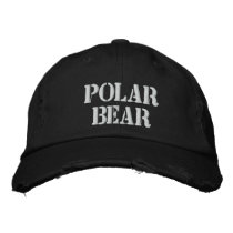 POLAR BEAR EMBROIDERED BASEBALL HAT