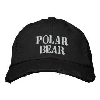 POLAR BEAR EMBROIDERED HAT