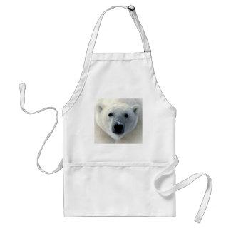 Polar Bear Face Adult Apron