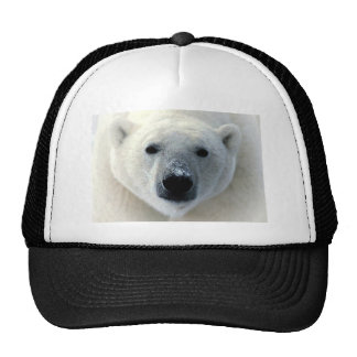 Polar Bear Face Mesh Hat