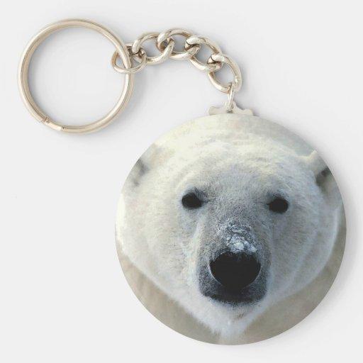 Polar Bear Face Key Chain