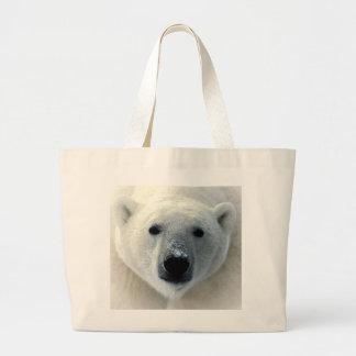 Polar Bear Face Large Tote Bag