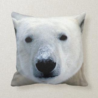 Polar Bear Face Throw Pillow