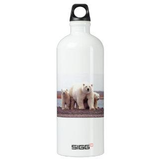 Polar Bear Family Aluminum Water Bottle