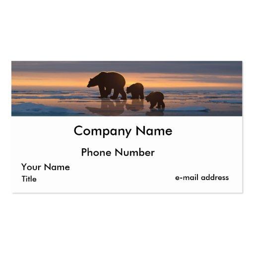 Polar bear family business cards zazzle for Family business cards