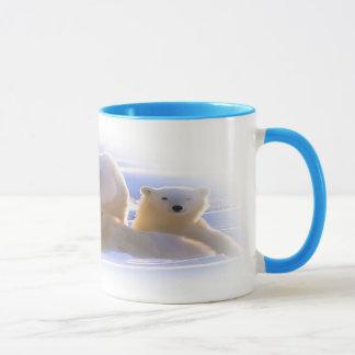 Polar bear family coffee mug