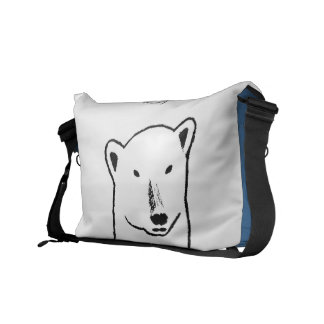 Polar bear family delivery bag for climate change commuter bags