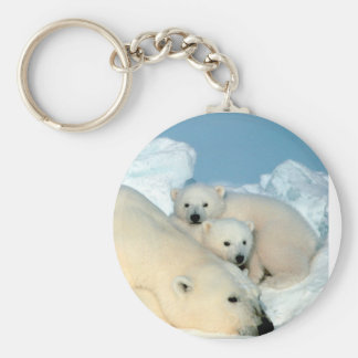 Polar Bear Family Keychain