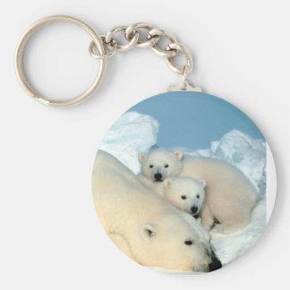 Polar Bear Family Keychain