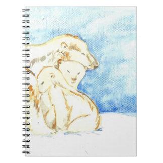 Polar bear family notebook
