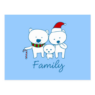 Polar Bear Family Postcards