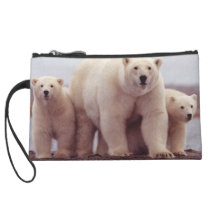Polar Bear Family Wristlet
