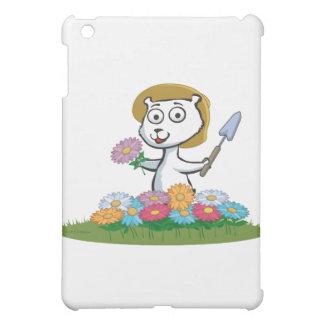 Polar Bear Flower Gardener iPad Mini Case