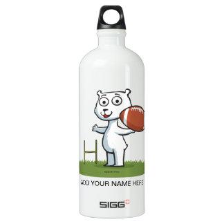 Polar Bear Football Water Bottle