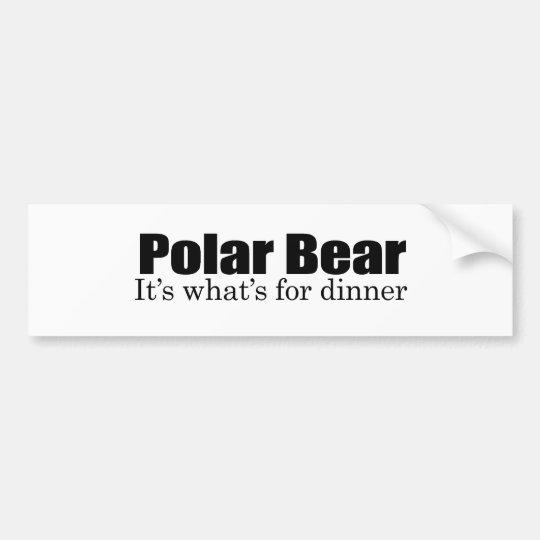 Polar Bear for dinner Bumper Sticker
