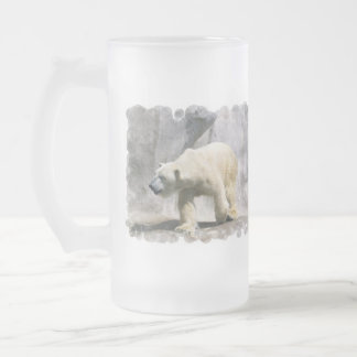 Polar Bear  Frosted Beer Mug