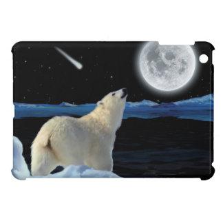 Polar Bear & Full Moon Arctic Wildlife Art iPad Mini Case