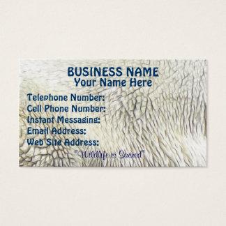 Polar Bear Fur-effect Profile & Business Cards