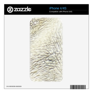 Polar Bear Fur Wildlife iPhone 4 Skin