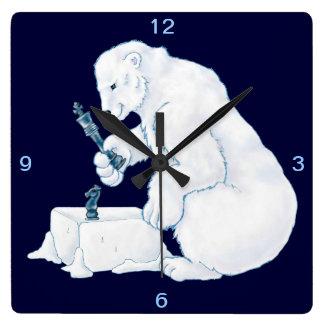 Polar Bear Games Square Wallclock