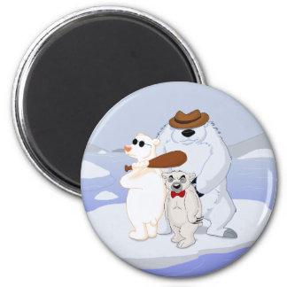 Polar Bear Gang on Ice Magnet