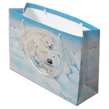 Polar bear gift bag large gift bag