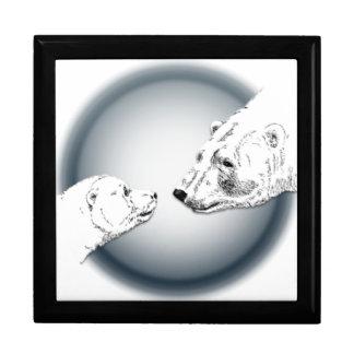Polar Bear Gift Box Mother & Cub Jewelry Box