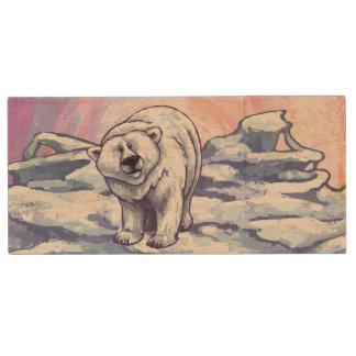 Polar Bear Gifts & Accessories Wood USB 2.0 Flash Drive