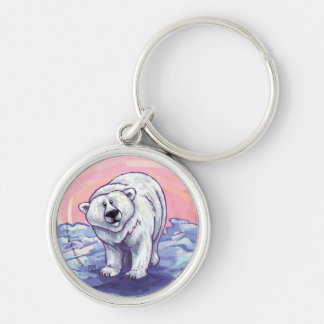 Polar Bear Gifts & Accessories Silver-Colored Round Keychain