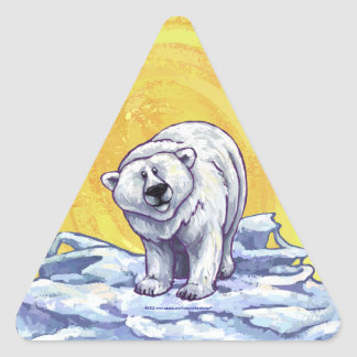 Polar Bear Gifts & Accessories Triangle Sticker