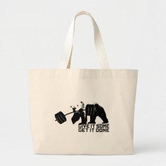 Polar Bear - Give It Some Jumbo Tote Bag