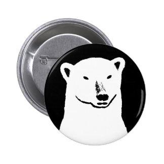 Polar Bear Global Warming Button