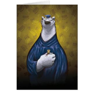 Polar Bear Graduation Card Blue