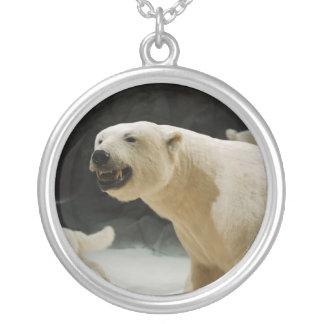 Polar Bear Grin Silver Plated Necklace