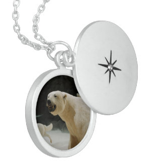Polar Bear Grin Sterling Silver Necklace