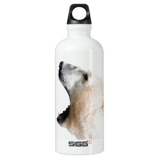 Polar bear growl aluminum water bottle