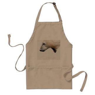 Polar bear growl adult apron