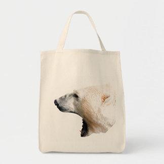 Polar bear growl canvas bags