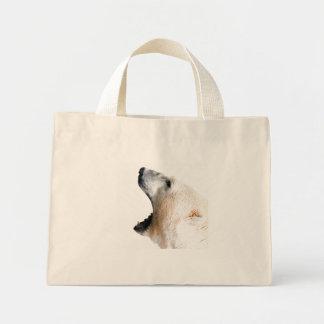 Polar bear growl tote bag