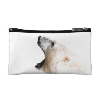 Polar bear growl cosmetic bags