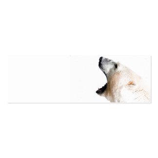 Polar bear growl business card