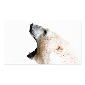 Polar bear growl business card templates