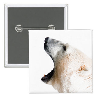 Polar bear growl pins