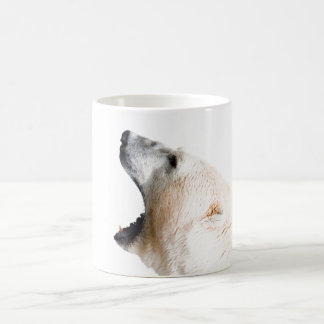 Polar bear growl coffee mug
