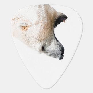 Polar bear growl guitar pick
