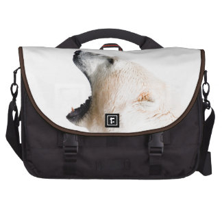 Polar bear growl laptop bags